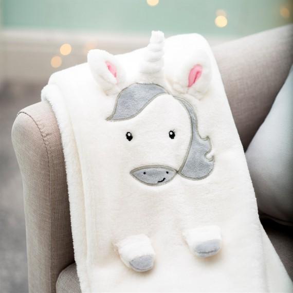 Couverture polaire licorne pour bébé