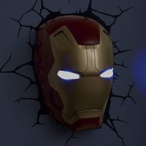 Lampe Murale 3D Marvel Iron Man