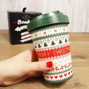 Mug de Noël en Bambou à emporter