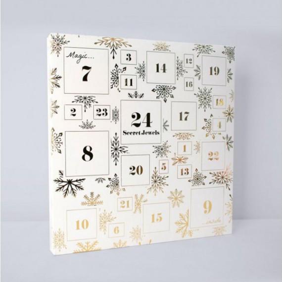 Calendrier de Noël Bijoux Blanc