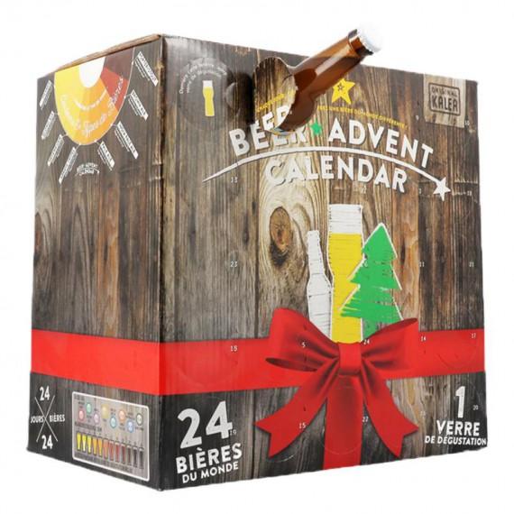 Calendrier de l'avent - Bière à l'international - 24 Bières + 1 Verre