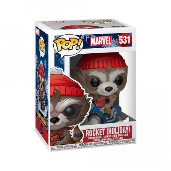 Figurine POP Marvel Holiday - Rocket