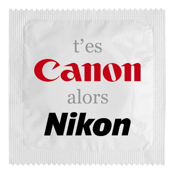 Préservatif - T'es canon alors Nikon