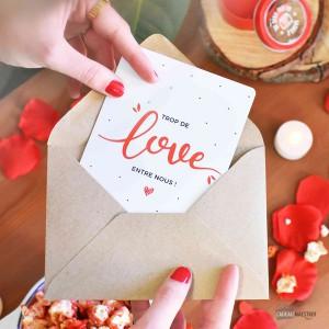Carte - Trop de Love entre Nous