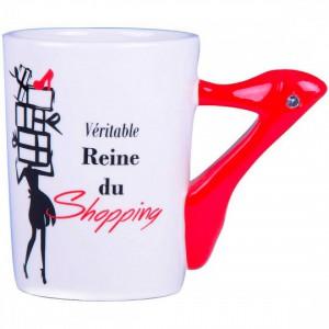 Mug 3D - Reine du shopping