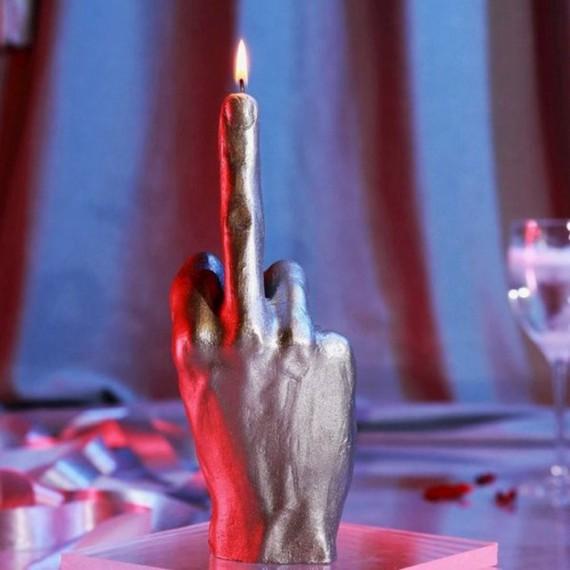 Bougie XXL main doigt d'honneur fuck