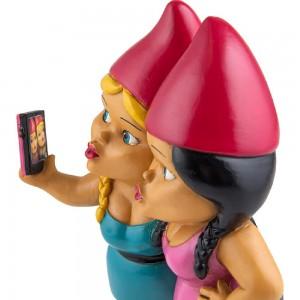 Naines de jardin - Selfie sisters