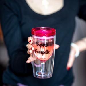 Verre à vin avec couvercle Saperli Pompette