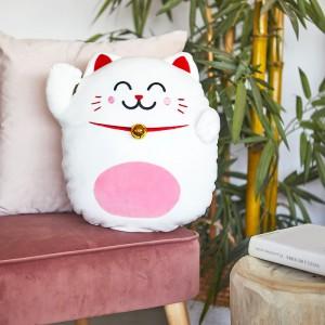 Coussin Maneki Neko - Chat mignon