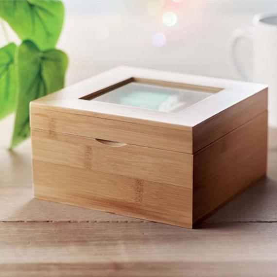 Coffret à thé en bambou