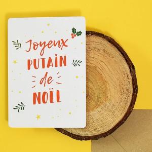 Carte à Ecrire Joyeux Putain de Noël