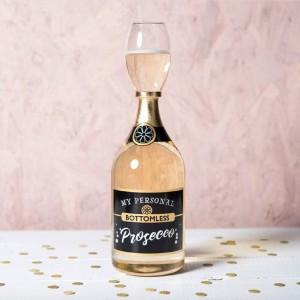 Verre à vin en forme de bouteille de vin