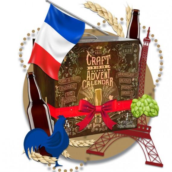 Calendrier de l'avent bières Craft - 24 Bières + 1 Verre