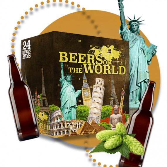 Calendrier de l'Avent x24 bière du monde / 24 pays + 1 verre