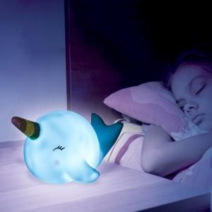 Veilleuse narval pour des rêves tout doux