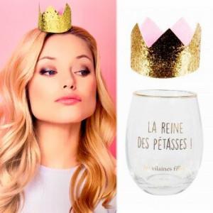 Verre couronne la reine des pétasses