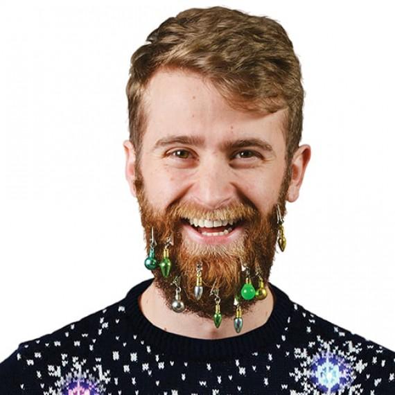 Les boules de Noël pour barbe