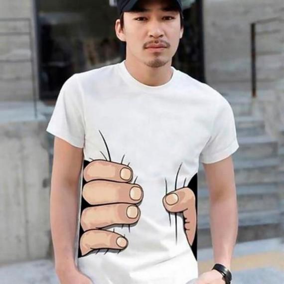 T-shirt main géante