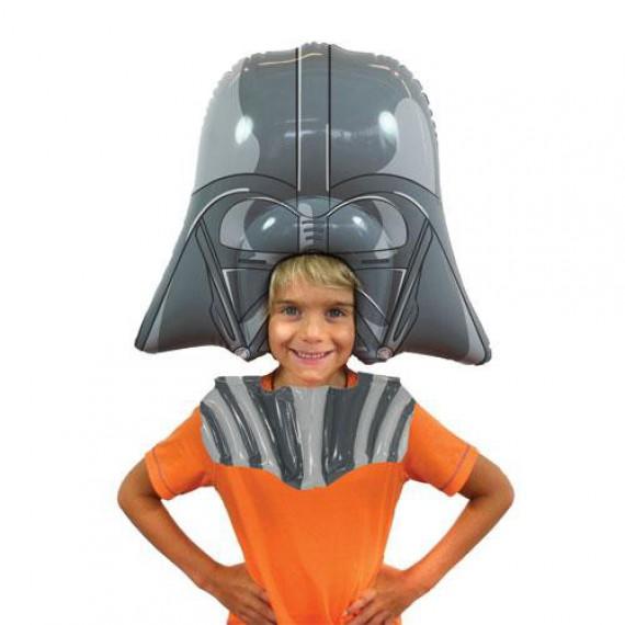 Perruque gonflable Dark Vador Star Wars