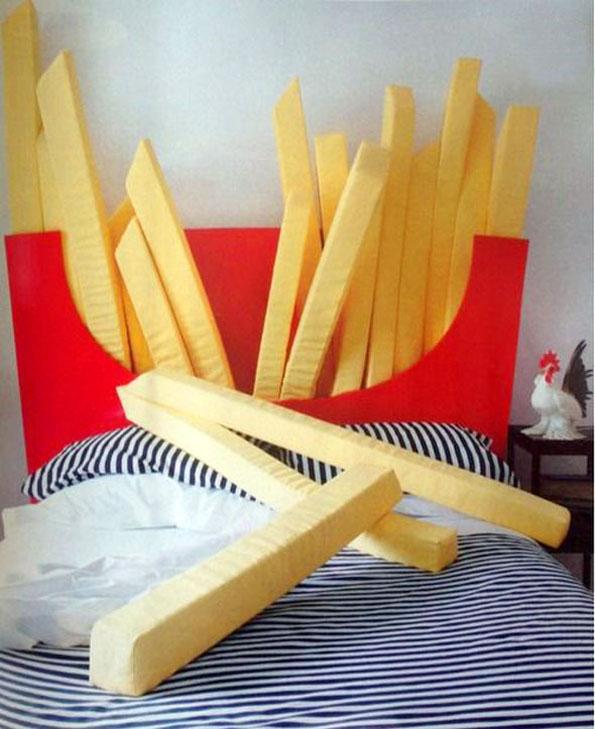 le lit frites mcdo super size pour dormir sereinement sans sentir la frite pigsou mag. Black Bedroom Furniture Sets. Home Design Ideas