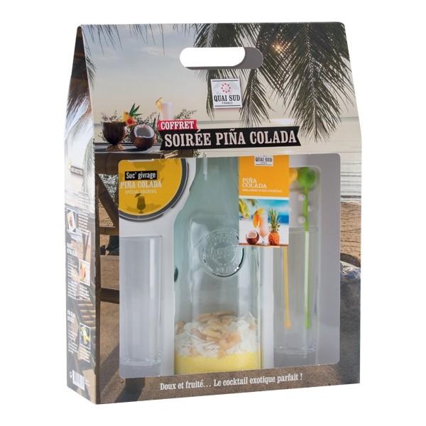 coffret mélange Pina Colada + 2 verres