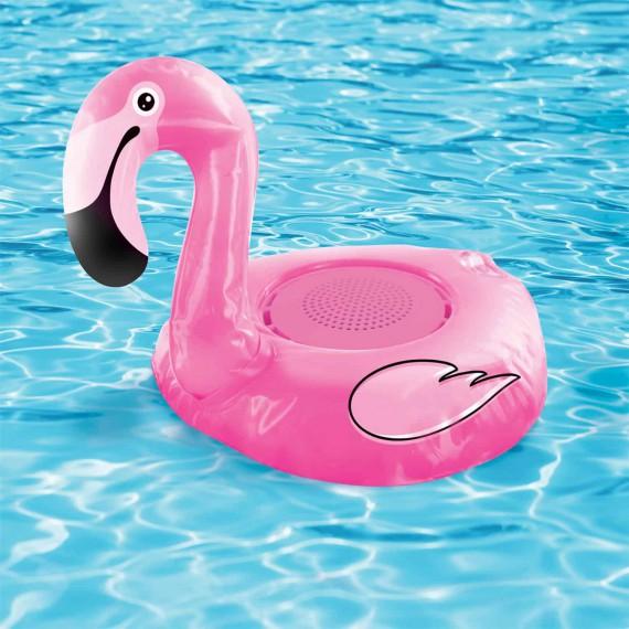Haut parleur étanche flamant rose