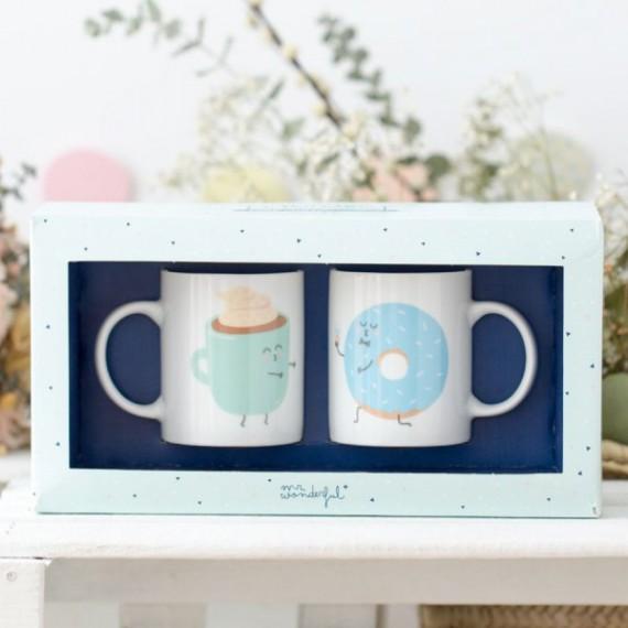 set de deux mugs pour amoureux
