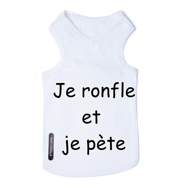 t-shirt pour bouledogue français