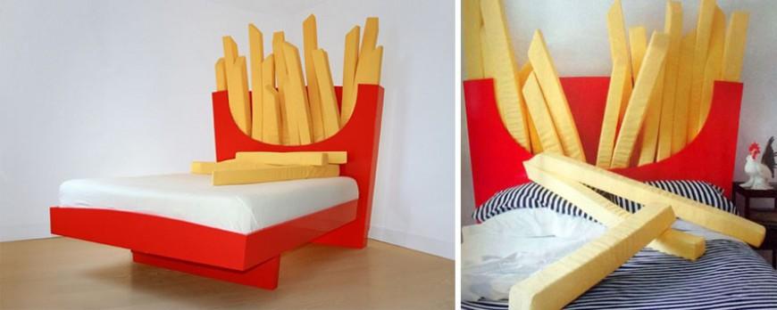 Le lit frites géantes McDo pour dormir sereinement sans sentir la frite !