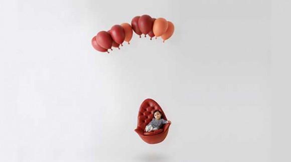 Balloon Bench & Chair, ces fauteuils qui flottent dans les airs