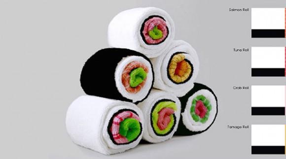 Les serviettes de table sushis, appétissantes et insolites !