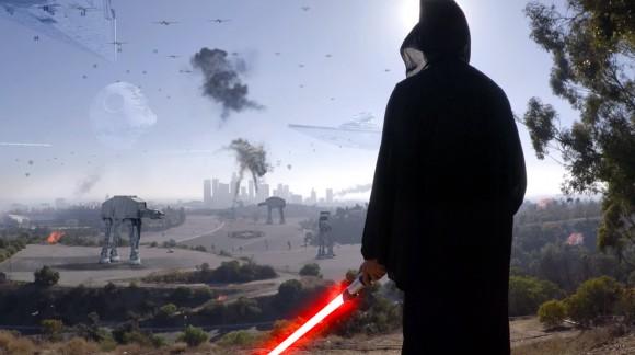 Breaking News Star Wars : le côté obscur envahit Los Angeles. (En vidéo)