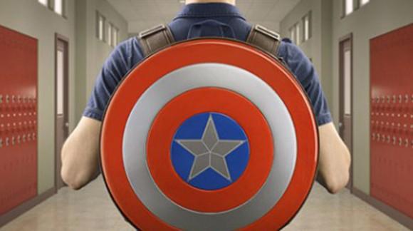 Le bouclier de Captain America en version sac à dos