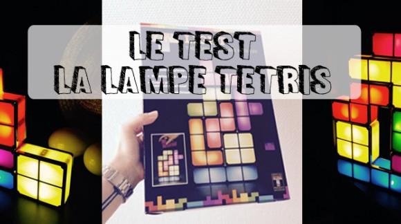 J'ai testé... La lampe Tetris blocs lumineux personnalisables