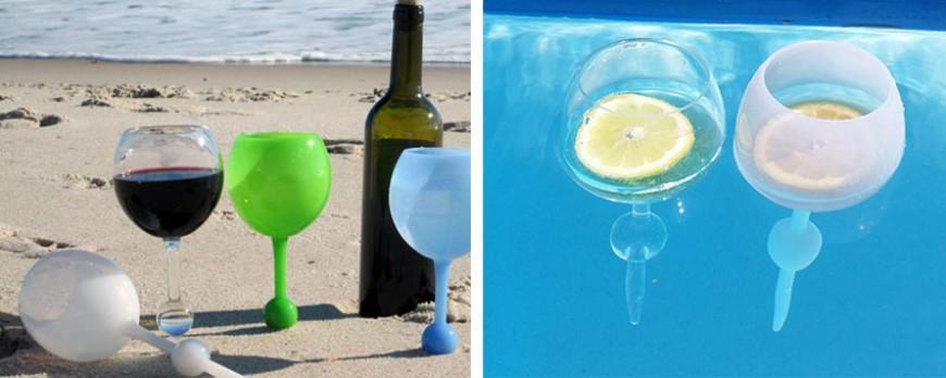 Beach Glass : le verre indispensable pour cet été, il se plante dans le sable ou flotte sur l'eau !
