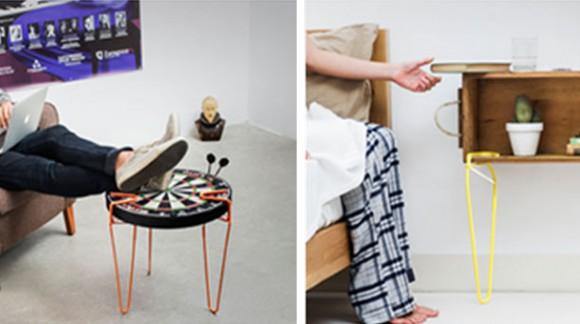 Avec SNAP, transformez facilement n'importe quelle surface en meuble ! Une roue de vélo ou un panneau, à vous d'imaginer :)