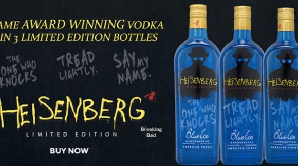 Breaking News : la vodka Heisenberg est en vente. Vodka Blue Ice, évidemment !