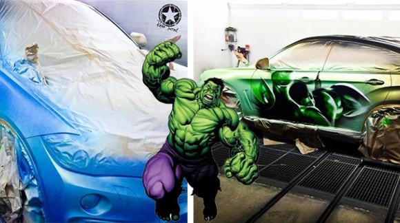 Cette BMW X6 se transforme en Hulk grâce à une peinture qui réagit à la température ! Génial (En vidéo)