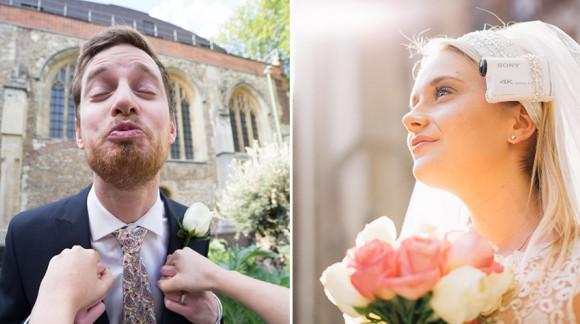 Filmez votre mariage de votre point de vue avec ces accessoires pour mariée by Sony ! C'est VOTRE mariage après tout :)