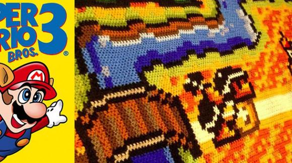 Fan de Mario Bros, voici le tapis ultime tricoté durant 6 ans par un internaute !