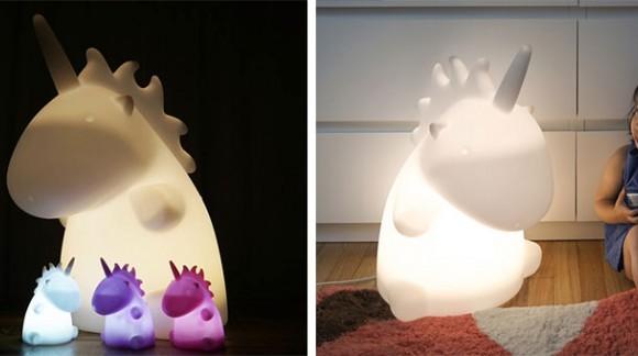 Une lampe licorne géante multicolore comme un arc-en-ciel *_*