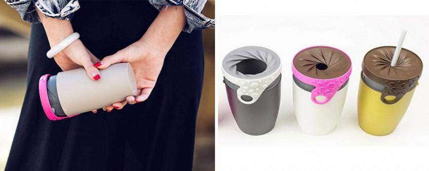 Le thermos de demain fonctionne par torsion et il résout tous vos problèmes. Le café ne fuit plus !!