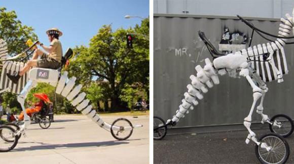 Chevauchez un T-Rex c'est possible grâce à ce tricycle (En vente)