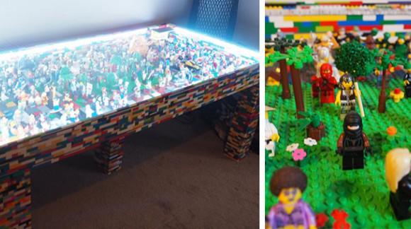 On passe à table ! Mais avec ma table LEGO bien sûr (En vente à 6.580€)