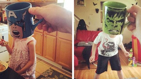 Ce père juxtapose des mugs avec la réalité, transformant ses enfants ! Génial