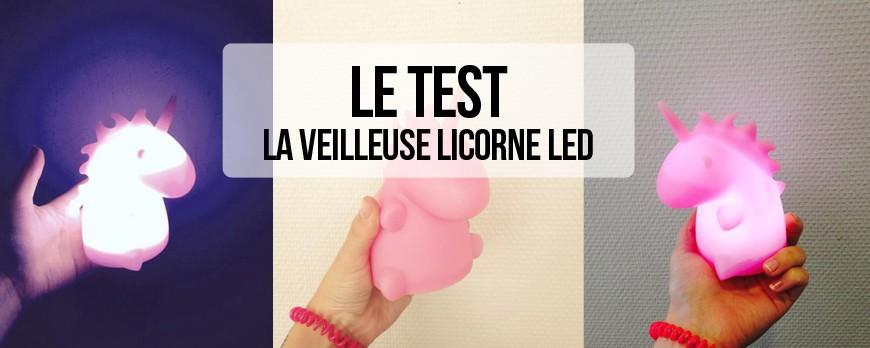 J'ai testé... La lampe veilleuse licorne LED