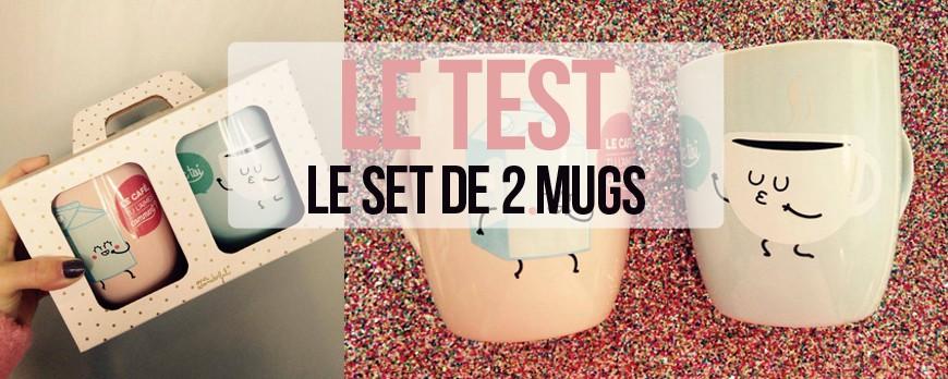 J'ai testé... Le set de 2 mugs - le café tu l'aimes comment ? avec toi !