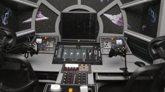 Le cockpit du Faucon Millenium dans votre chambre