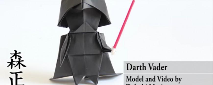 Tadashi Mori vous apprend à faire votre propre Dark Vador... en Origami !