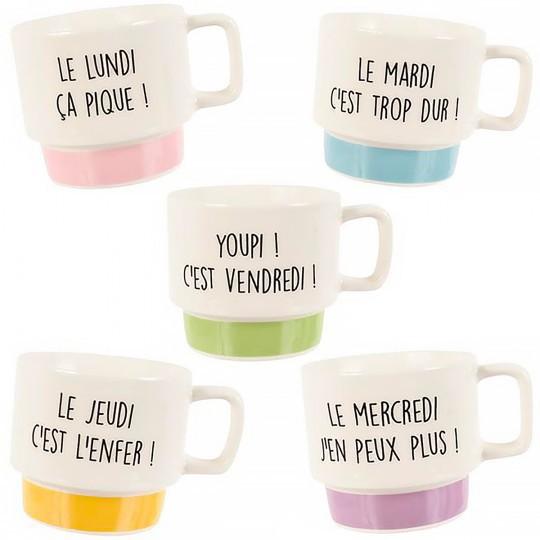 Tasses à café semaine